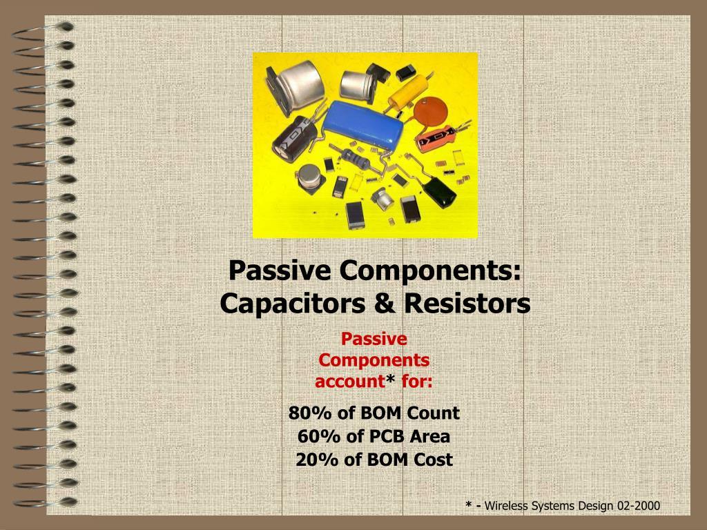 passive components capacitors resistors l.