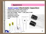 radial leaded electrolytic capacitors