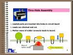 thru hole assembly