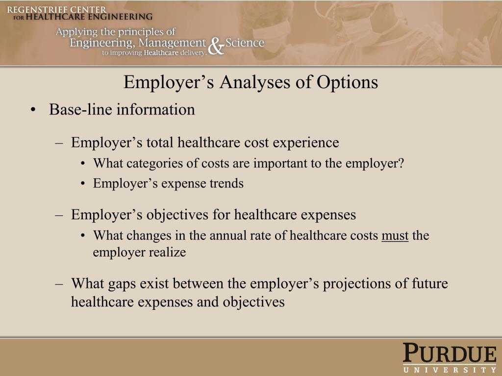 Employer's Analyses of Options