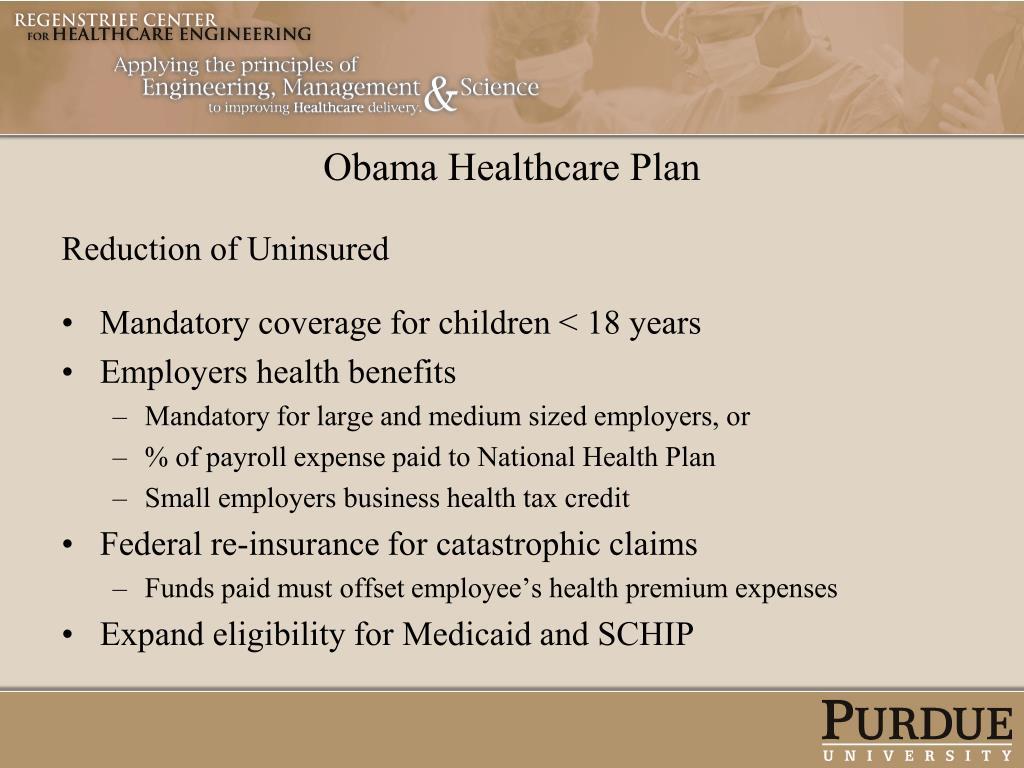 Obama Healthcare Plan
