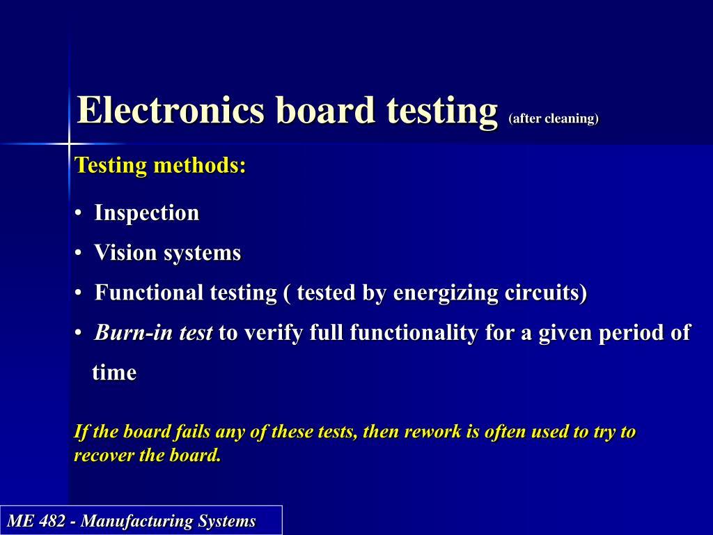 Electronics board testing