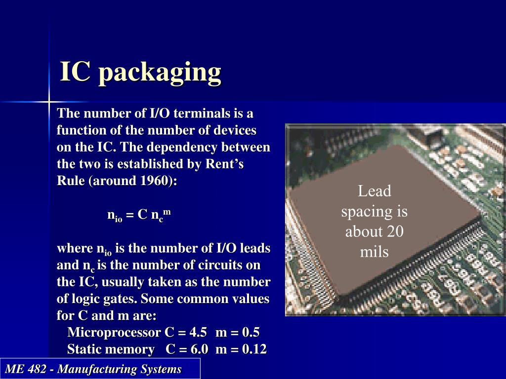 IC packaging