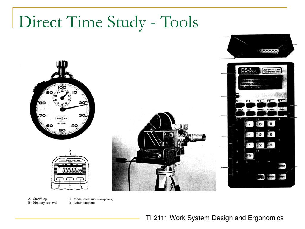 Direct Time Study - Tools