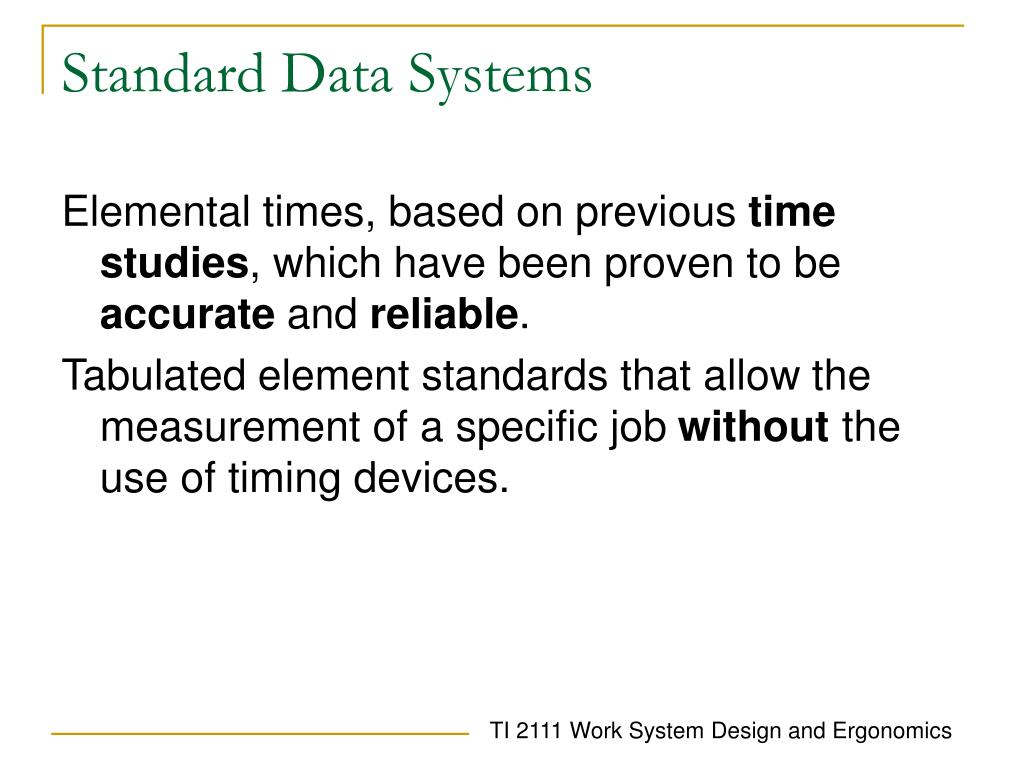 Standard Data Systems