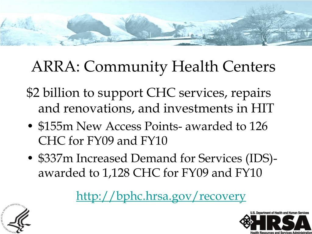 ARRA: Community Health Centers