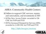 arra community health centers