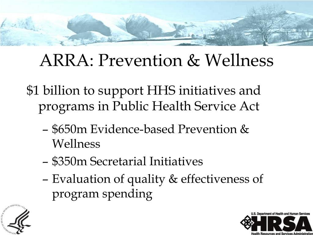 ARRA: Prevention & Wellness