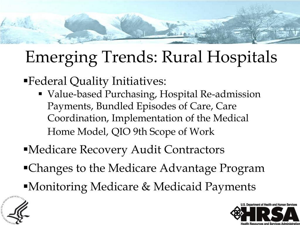 Emerging Trends: Rural Hospitals