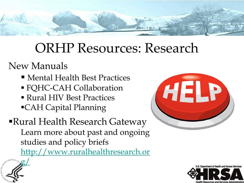 ORHP Resources: Research