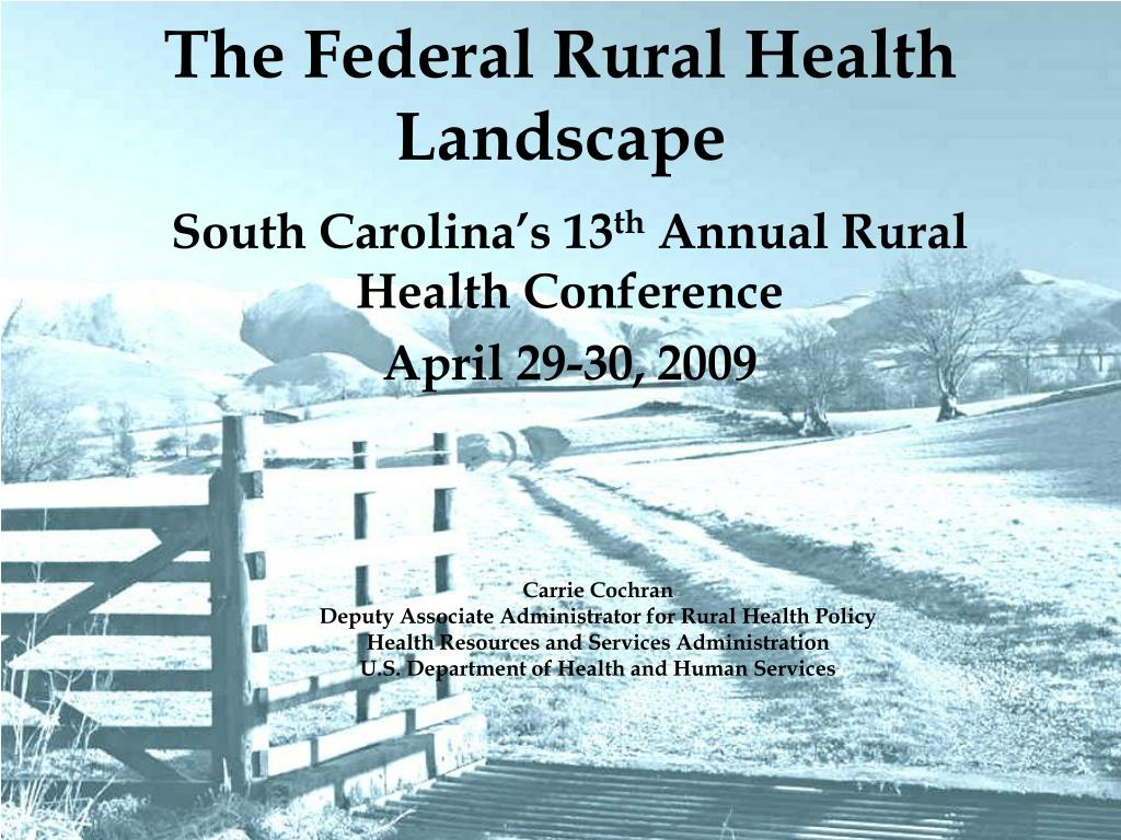 the federal rural health landscape l.