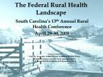 the federal rural health landscape