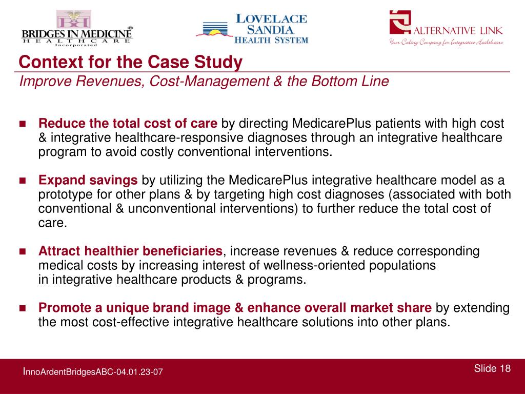 Reduce the total cost of care