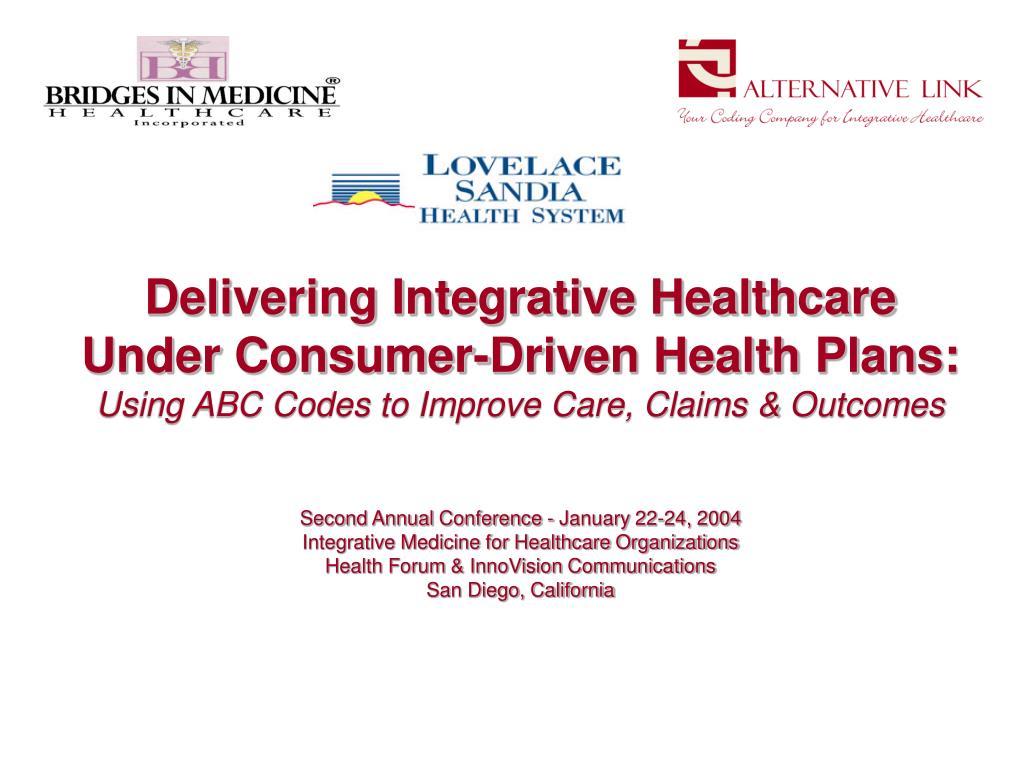 Delivering Integrative Healthcare