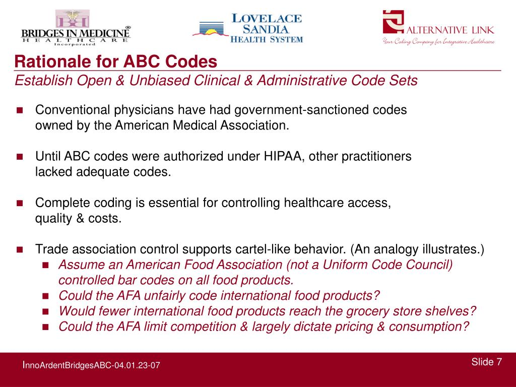 Rationale for ABC Codes