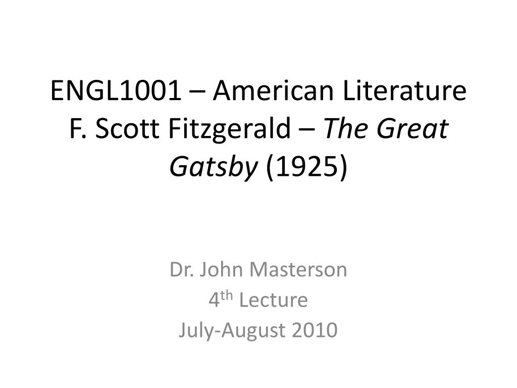 the hidden symbolysm of the title of the great gatsby by f scott fitzgerald