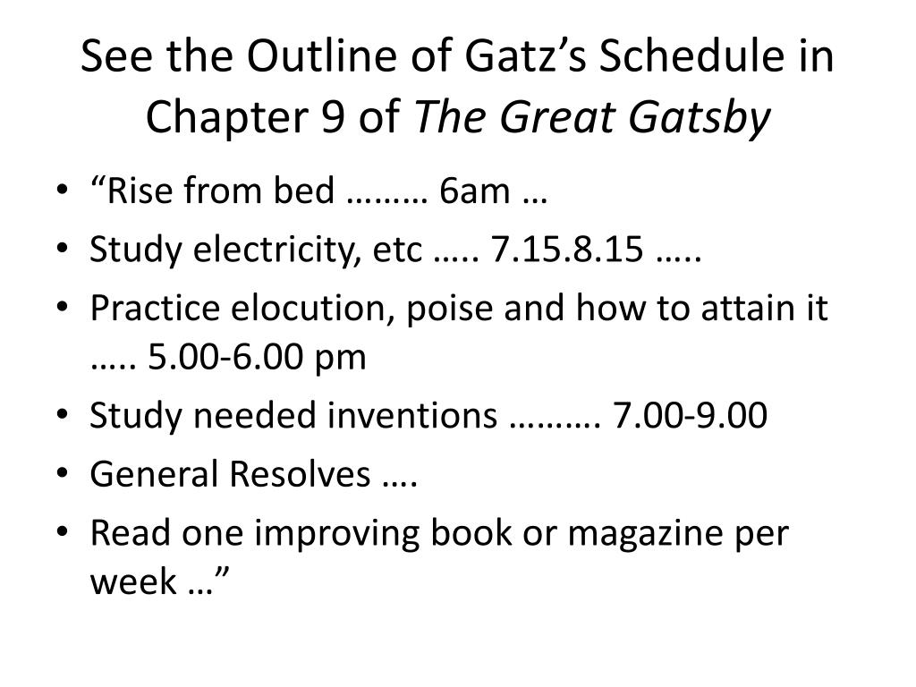 great gatsby outline Both gatsby and nick live in the west egg these residents have become rich more recently they are new money the west egg the east egg the great gatsby.