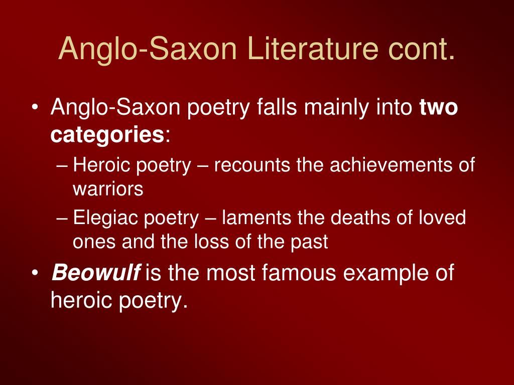anglo saxon literature
