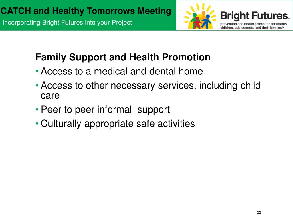 Family Support and Health Promotion