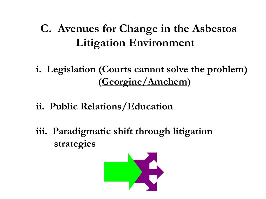 C.  Avenues for Change in the Asbestos