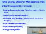 ship energy efficiency management plan