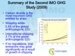summary of the second imo ghg study 2009