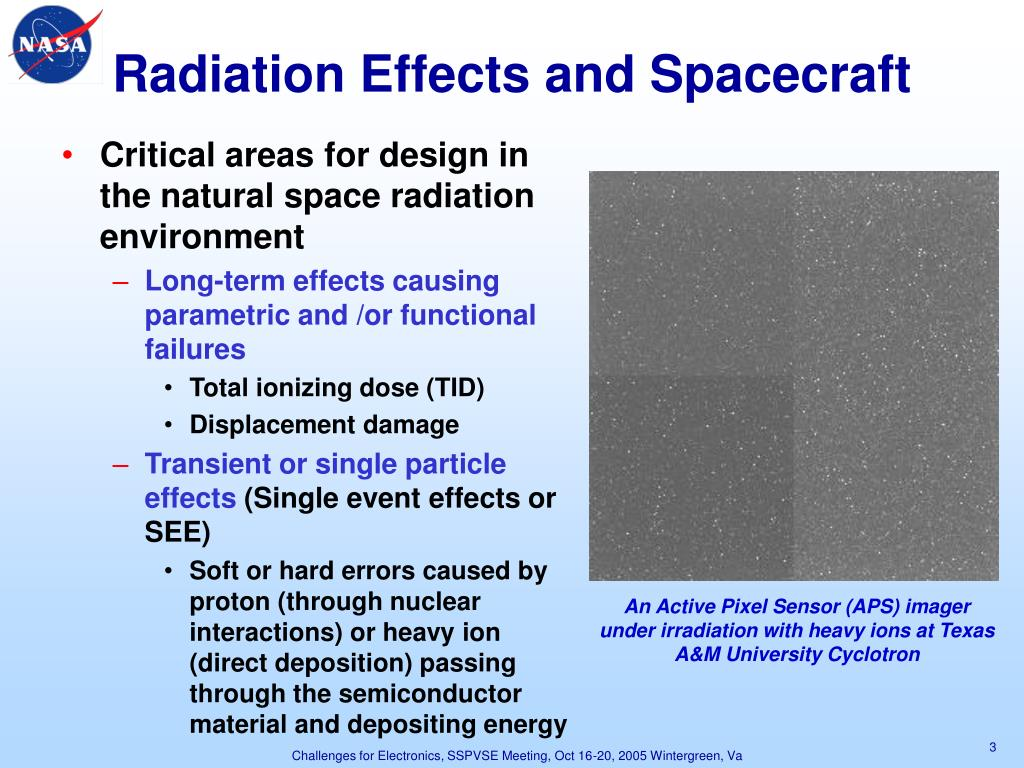 Radiation Effects and Spacecraft