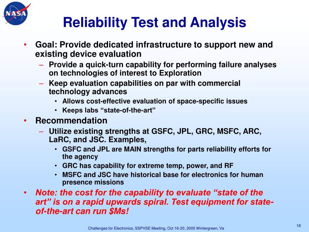 Reliability Test and Analysis