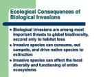 ecological consequences of biological invasions