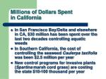 millions of dollars spent in california
