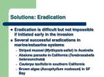 solutions eradication