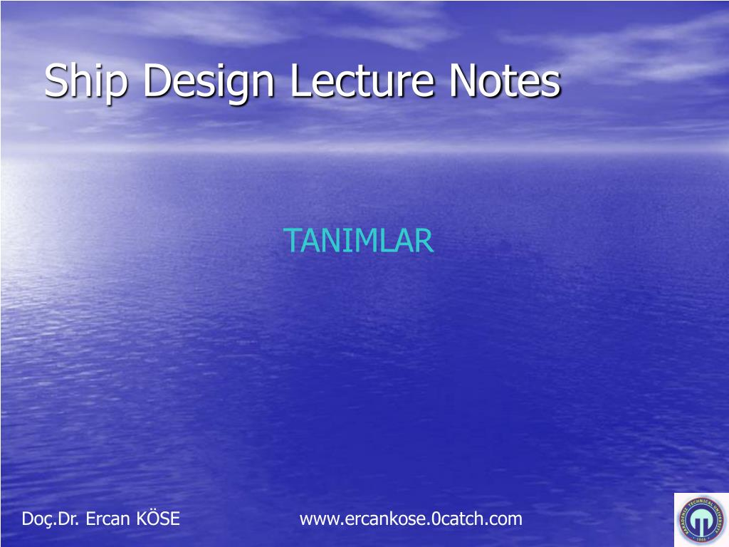 ship design lecture notes l.