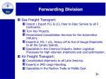 forwarding division12
