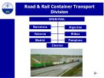 road rail container transport division