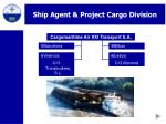 ship agent project cargo division