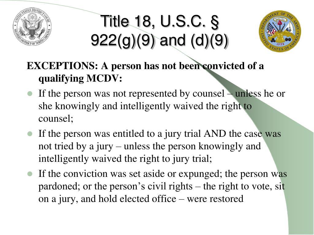 Title 18, U.S.C.