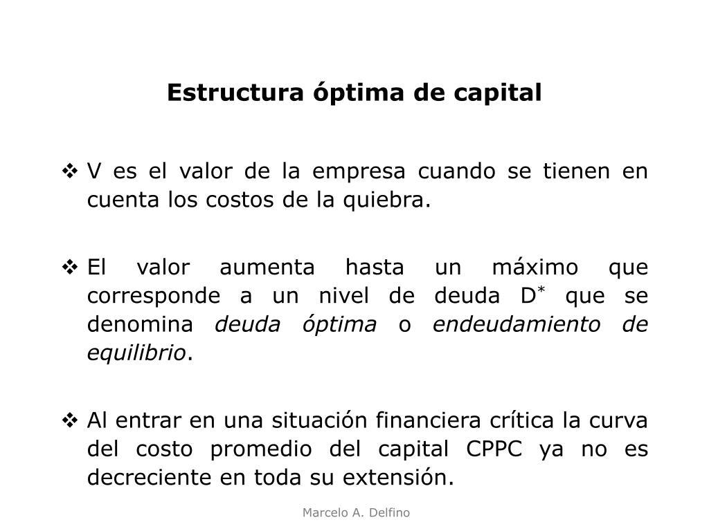 Ppt Estructura De Capital De La Empresa Powerpoint