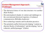 content management approach challenges