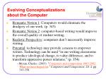 evolving conceptualizations about the computer