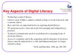 key aspects of digital literacy