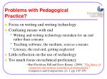 problems with pedagogical practice