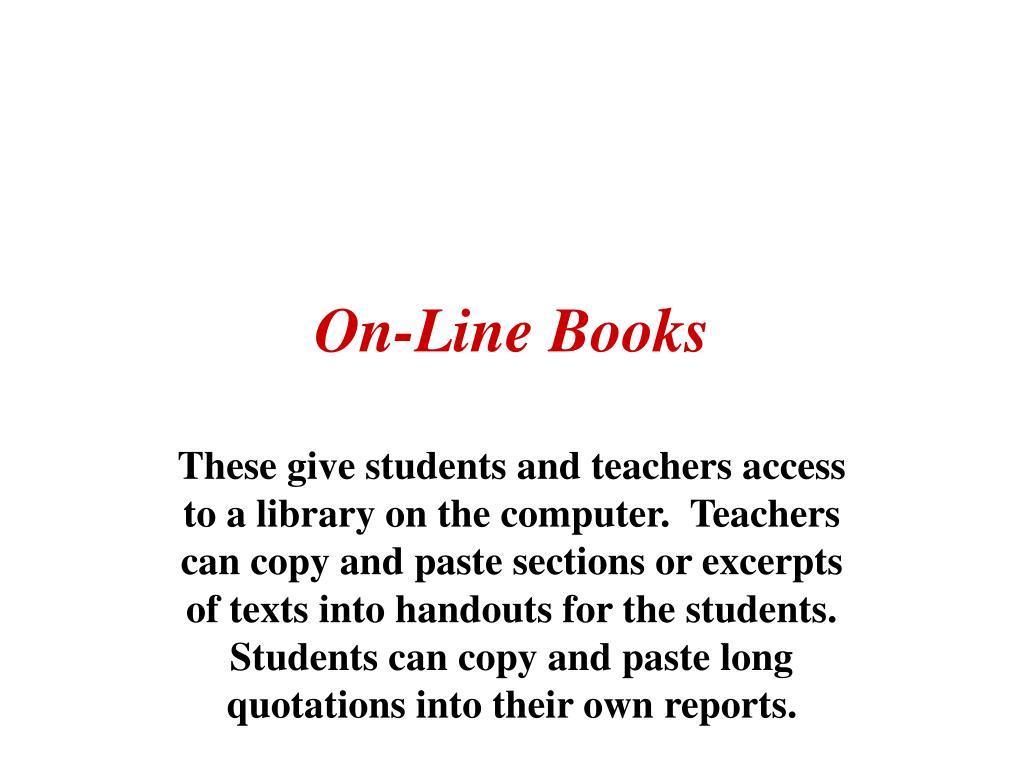 On-Line Books