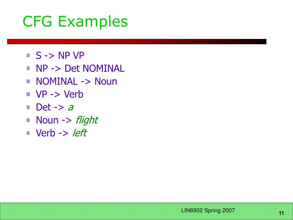 CFG Examples