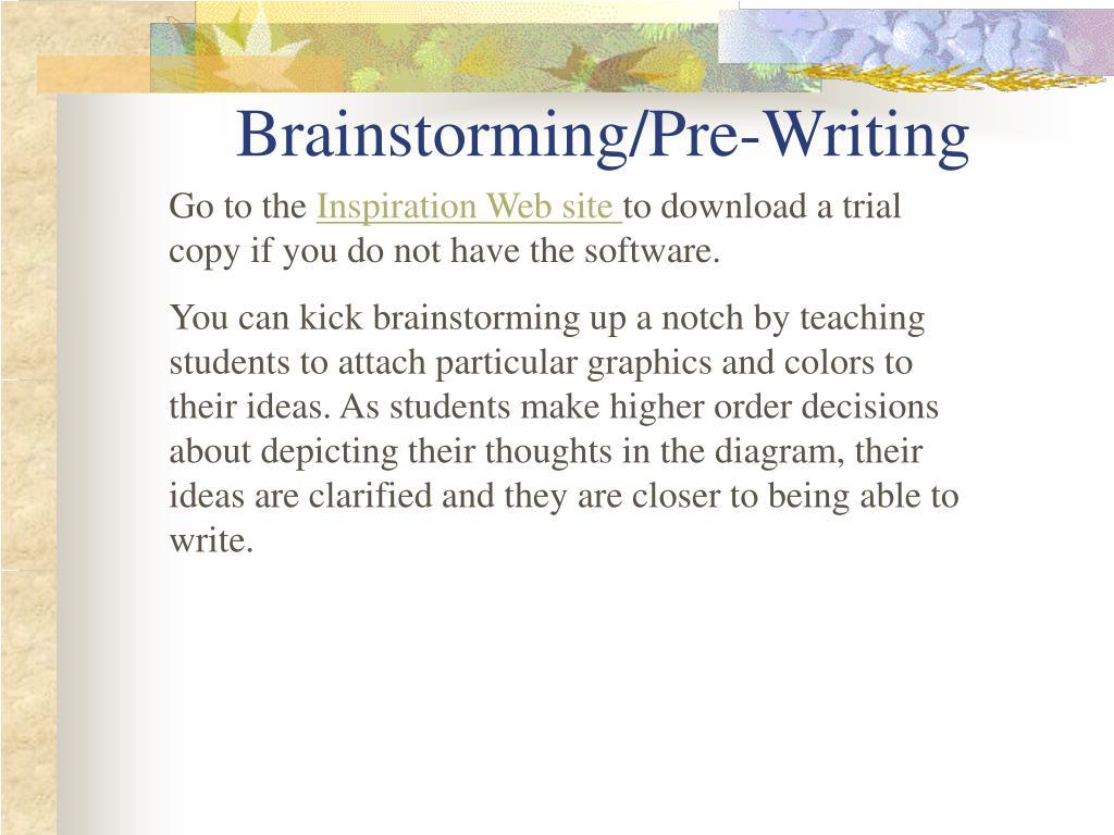 Brainstorming/Pre-Writing