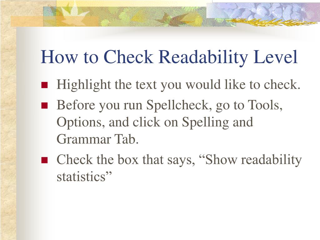 How to Check Readability Level