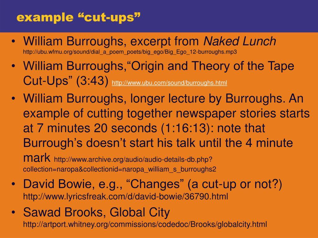 "example ""cut-ups"""