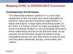 mapping ovrc to sociology curriculum