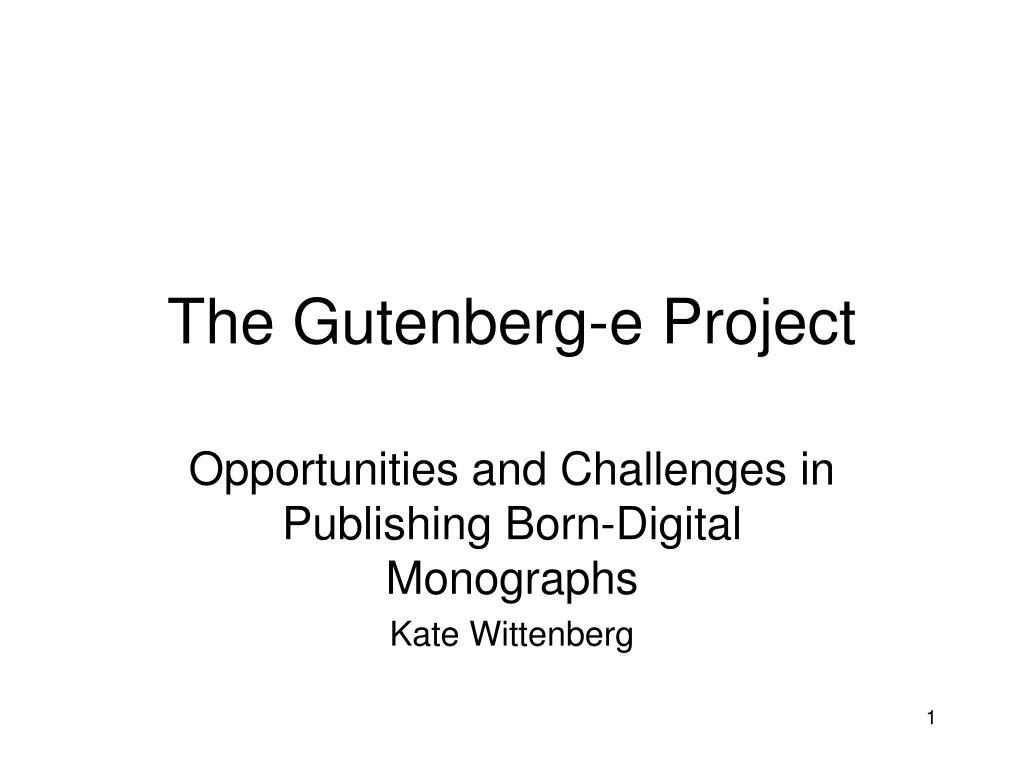 the gutenberg e project l.