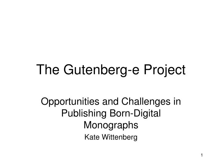 the gutenberg e project n.