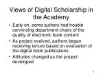 views of digital scholarship in the academy